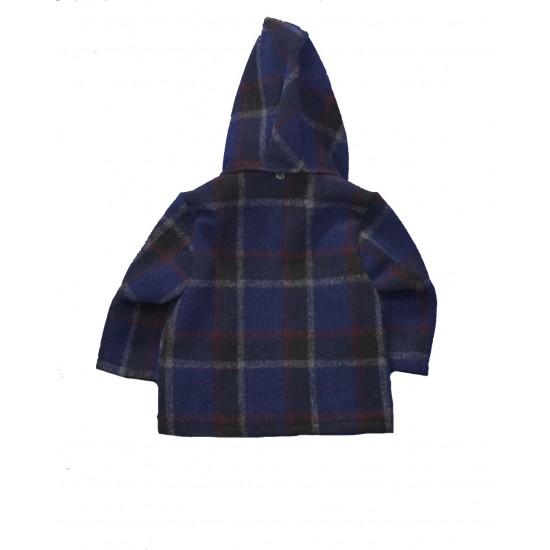 Βρεφικό Μοντγκόμερι με κουκούλα Μπλε K-Boy89 62333 Αγόρι