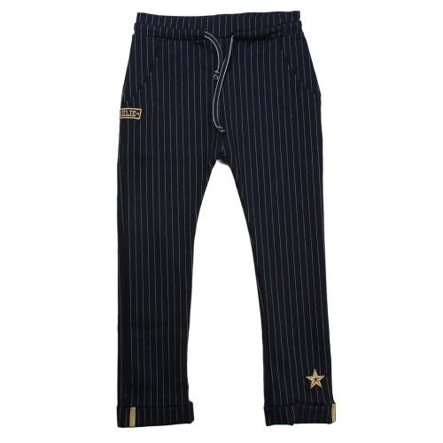 Παντελόνι Υφασμάτινο Ριγέ Σκούρο Μπλε Maelie 012205 Κορίτσι