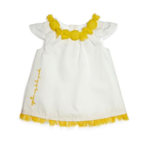 e066c336ad4e Βρεφικό Κοντομάνικο Φόρεμα Άσπρο AgathaRuizDeLaPrada 1122S16 Κορίτσι  Φορέματα