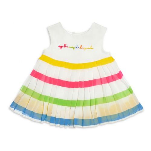 84735f56b1b Βρεφικό Αμάνικο Φόρεμα Άσπρο AgathaRuizDeLaPrada 1224S16 Κορίτσι Φορέματα