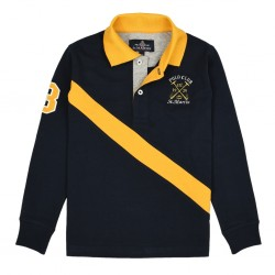 Μπλούζα Polo Μπλε & Κίτρινο Polo Club St. Martin 7191sl011 Αγόρι Αγόρι