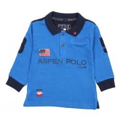 Βρεφική Μπλούζα Polo Μπλε Aspen Polo 1071MP0015 Αγόρι  Μπλούζες