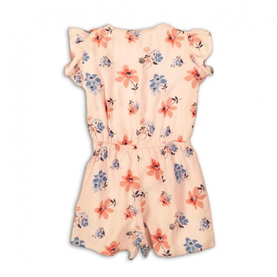 Βρεφική Κοντομάνικη Ολόσωμη Φόρμα Σορτς Ροζ Minoti Picnic1 Κορίτσι