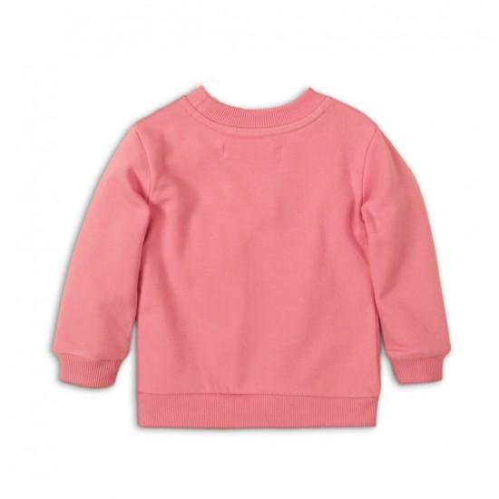 Βρεφικό Φούτερ Λαιμόκοψη Ροζ Minoti Place6 Κορίτσι