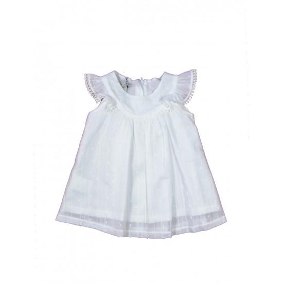 Βρεφικό Κοντομάνικο Φόρεμα Άσπρο Yellowsub 41050340080 Κορίτσι
