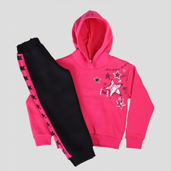 Σετ Φόρμας Μακρυμάνικη Μπλούζα & Φόρμα Φούξια& Μαύρο 133221 Nek Κορίτσι