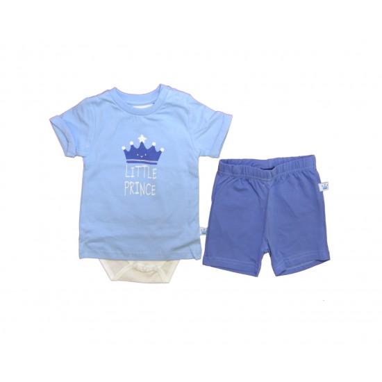 Βρεφικό Σετ Μπλούζα & Βερμούδα Γαλάζιο Blue Seven 37.422138 Αγόρι