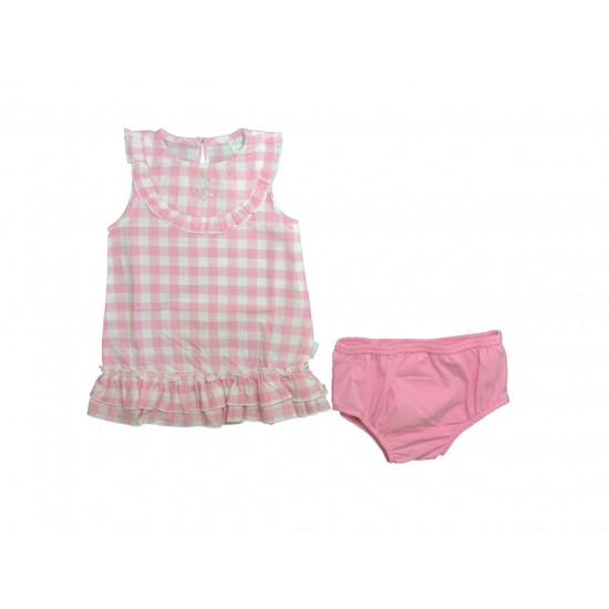 Βρεφικό Σετ Φόρεμα - Under Ροζ & Άσπρο Ellepi AA 1715 Κορίτσι