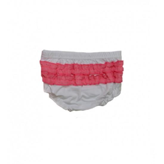 Βρεφικό Σετ Φόρεμα-Εσώρουχο Ροζ& Άσπρο Ellepi CO4479 Κορίτσι
