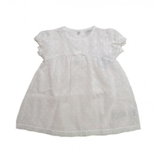 Βρεφικό Σετ Φόρεμα-Εσώρουχο Άσπρο Ellepi CO 4479 Κορίτσι